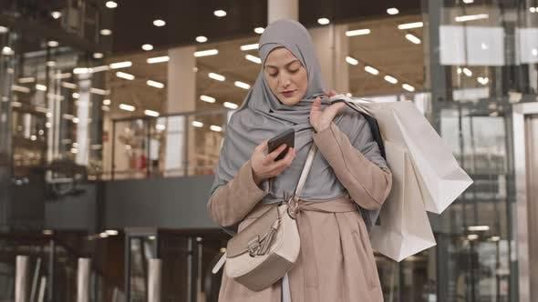 Arabic Woman at Shopping Center