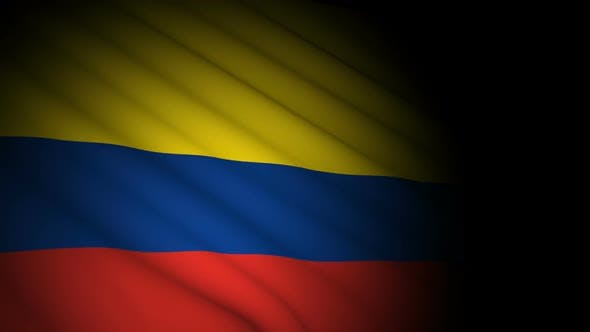 Thumbnail for Colombia Flag Blowing in Wind