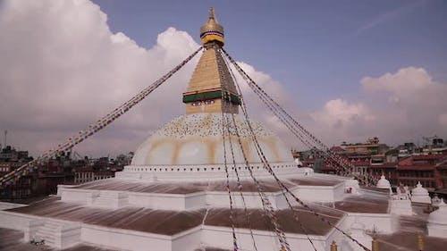Boudhanath stupa, a Buddhist temple in Kathmandu, Nepal