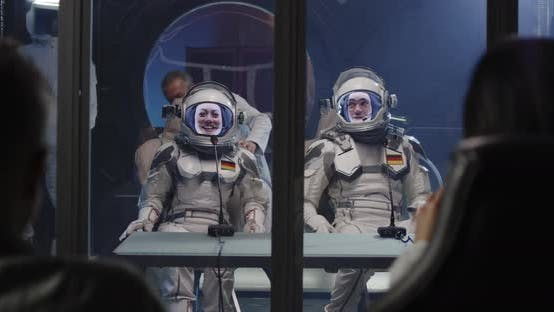 Thumbnail for Astronauts Arriving for Press Conference