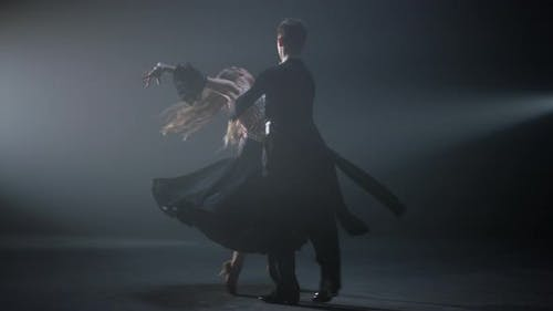 Ballroom Dancers Performing Indoors