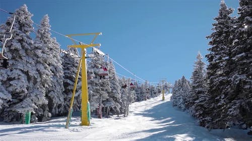 Ski Lift Time Lapse