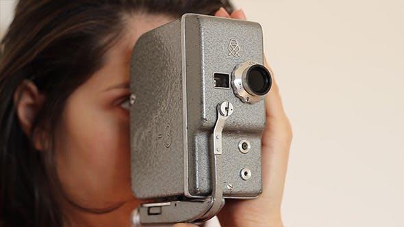 Thumbnail for Woman Handles Vintage Camera