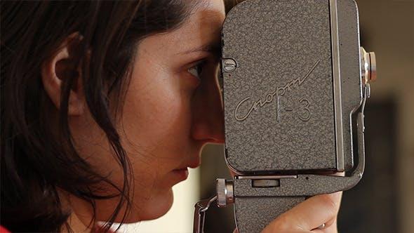Thumbnail for Girl Filming on 16mm