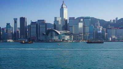 Hong Kong. Victoria Harbour and Hong Kong Central