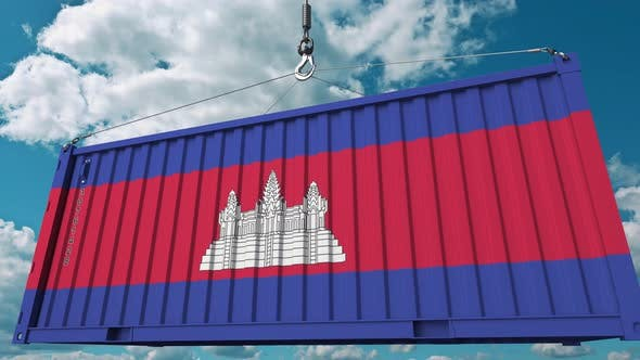 Thumbnail for Loading Container with Flag of Cambodia