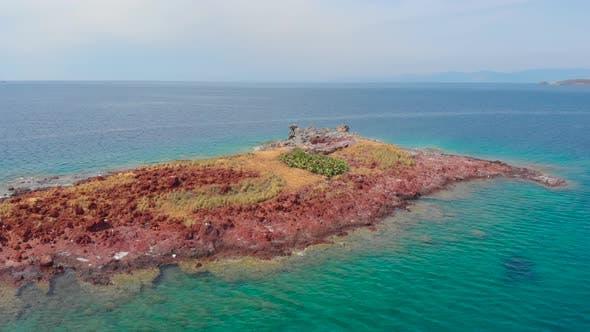 Thumbnail for Uninhabited Virgin Island Created By Volcanic Activity. Wild Little Gull House