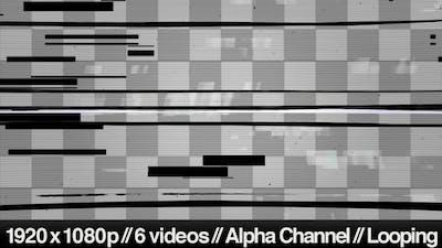 Digital TV Signal Distorted Noise & Glitch Overlay