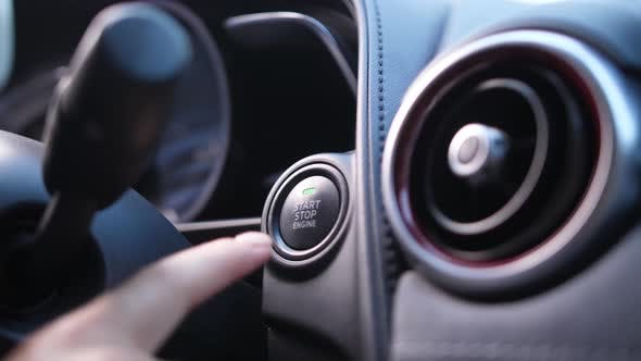 Thumbnail for Woman's Finger Starting Car Engine Pressing Button