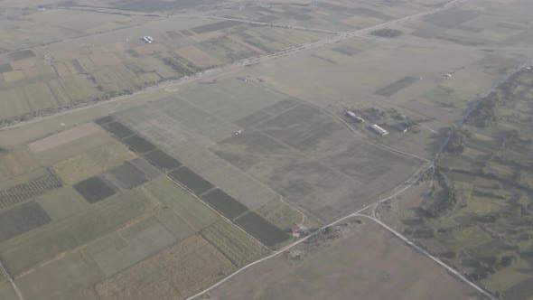 Thumbnail for Aerial flight over beautiful vineyard landscape in Kakheti, Georgia