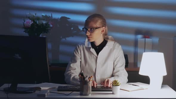 Thumbnail for Smart Female Engineer Working on Computer and Enjoying Success in Work