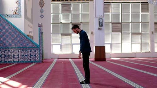 Prayer Man Mosque Worshiping