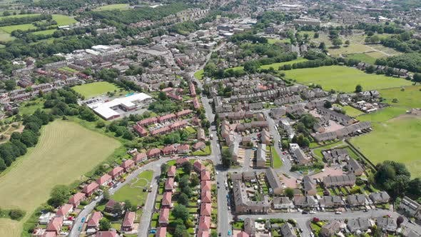 Thumbnail for Aerial footage of the town of Batley in the Metropolitan Borough of Kirklees, West Yorkshire