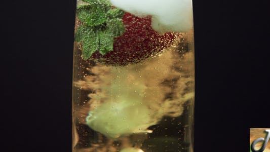 Thumbnail for Champagne With Strawberry And Smoke