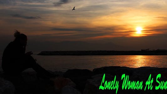 Thumbnail for Lonely Woman At Sunset
