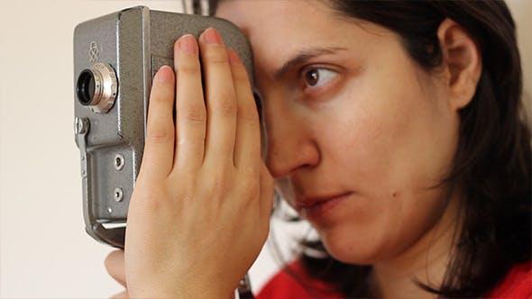 Thumbnail for Girl Cameraman and Vintage Camera