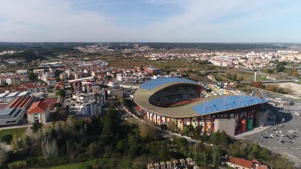 Thumbnail for Flying Over Stadium and Medieval Castle