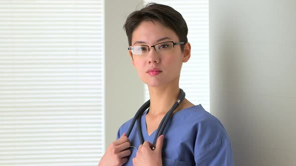Thumbnail for Portrait of Chinese woman doctor