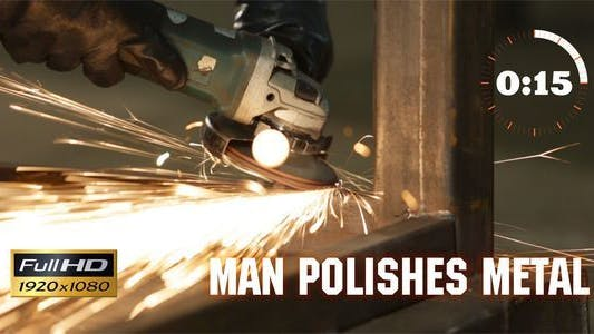 Thumbnail for Man Polishes Metal 1