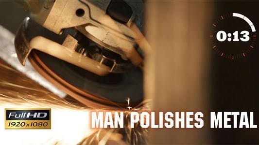 Cover Image for Man Polishes Metal 2