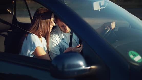Thumbnail for Couple in Car Navigation GPS