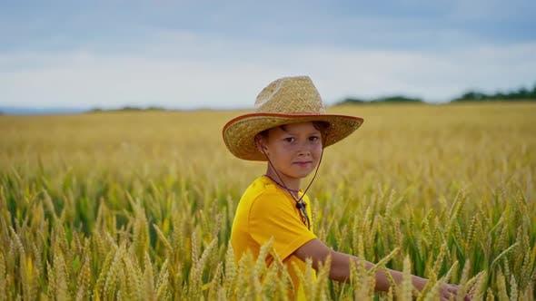 Thumbnail for Little farmer outdoors