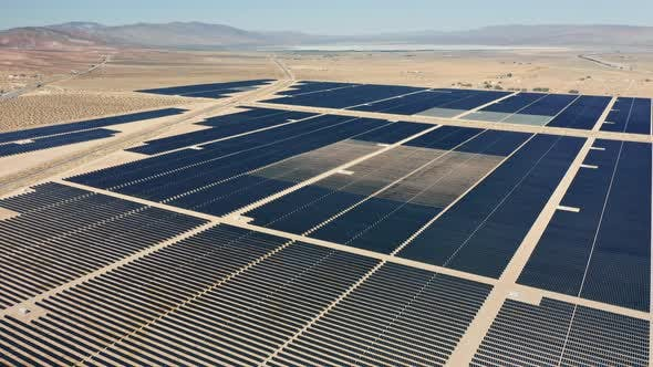 Thumbnail for Aerial View of Huge Solar Power Farm for Energy Production, Beautiful Sunny Day