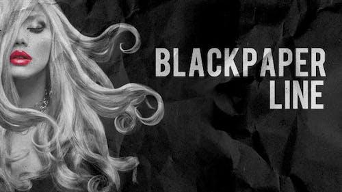 Línea de papel negro