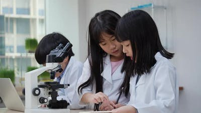 Students with science