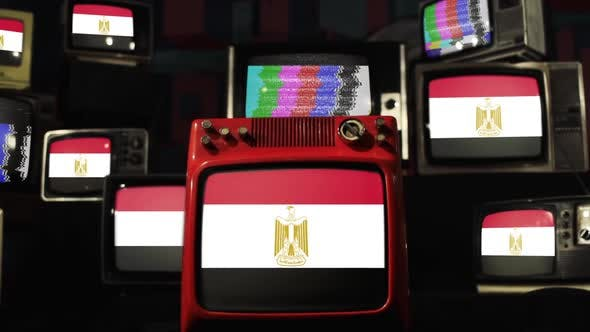 Thumbnail for Flags of Egypt and Vintage TVs.