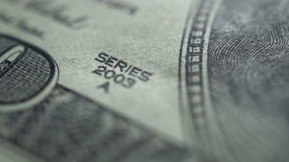 Macro Rotation Of 100 Dollar Bills