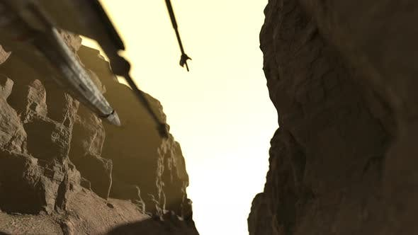 Thumbnail for Alien Spaceship Fly Through The Canyon