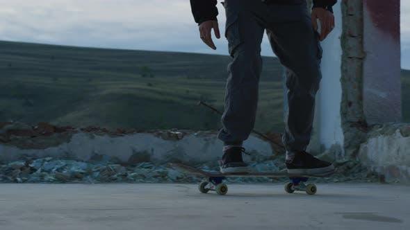 Skater doing a flip