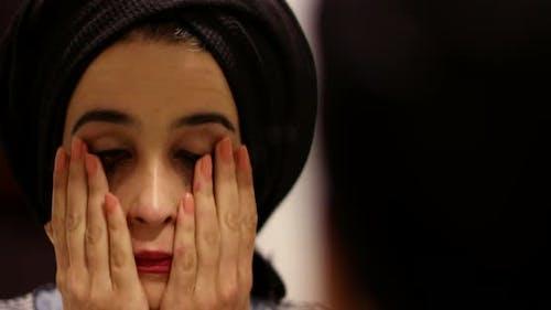 Sad Girl Wash Face