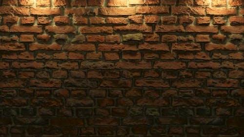 Empty Brick Wall with Warm Light Copy Space