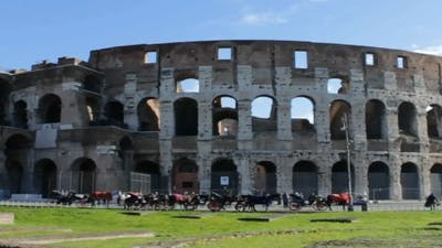 Roman Coliseum Long Shot