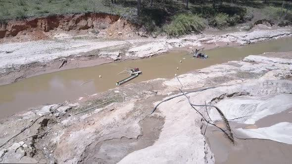 Thumbnail for Extraction Equipment Pumps Sand From Shallow River