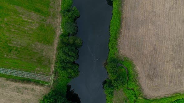 Thumbnail for Agricultural Fields, Meandering River