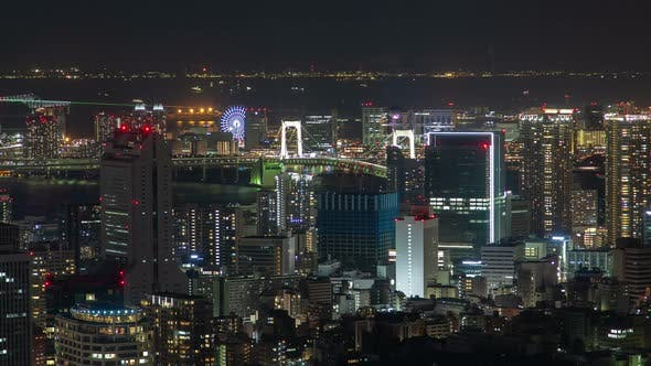 Thumbnail for Timelapse Tokyo Cityscape with Buildings and Skyscrapers