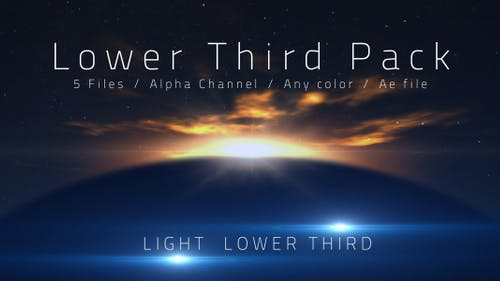 Light Lower Third 5 Pack ( All color )