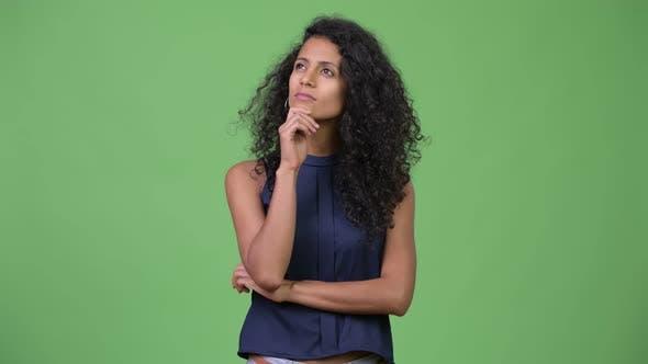 Thumbnail for Young Beautiful Hispanic Businesswoman Thinking