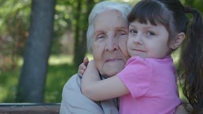 Hugging a Grandmother
