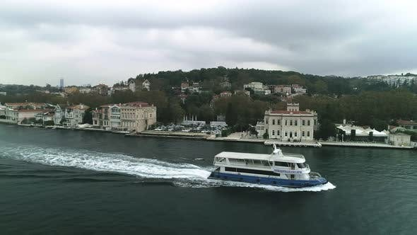 Thumbnail for Istanbul Bosphorus And Boat Aerial View