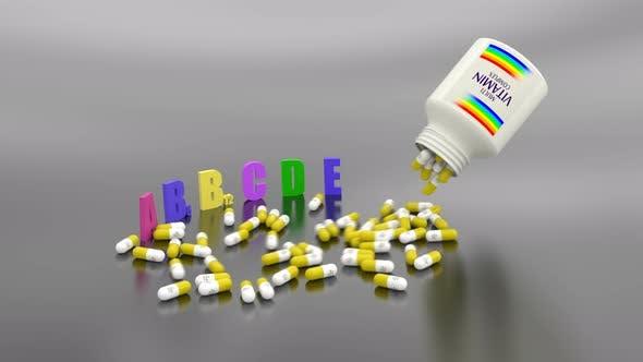 Thumbnail for Vitaminkapseln streuen an der Oberfläche