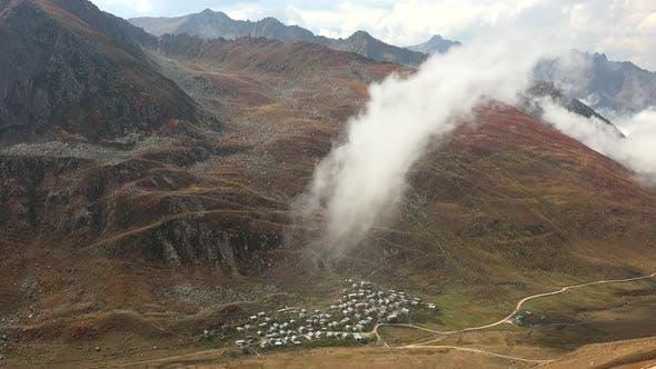 Thumbnail for Little Village Houses Bottom The Barren Steppe Treeless Valley