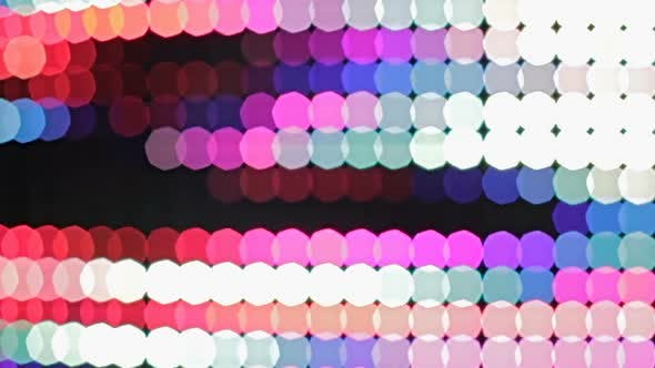Thumbnail for View on illuminating multicolored abstract background, Christmas decoration