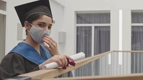 Beautiful Mixed-race Female Graduate