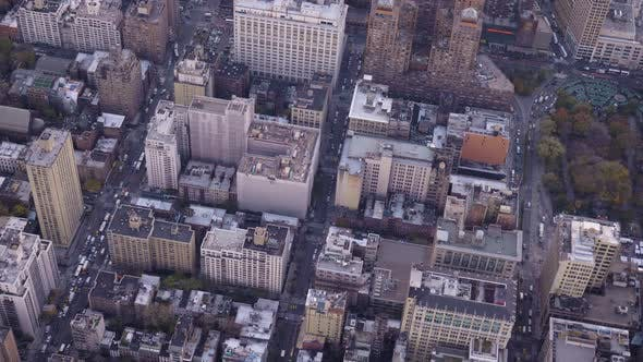 Thumbnail for Cityscape of Midtown District in Manhattan. Residential Neighborhood. Aerial View. New York City