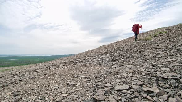 Thumbnail for Woman Hiking in Mountains