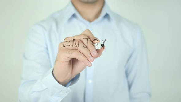 Cover Image for Enjoy, Writing On Screen